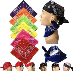 Wraps Hats Scarves Gloves Fashion Accessories Drop Delivery 2021 5555Cm Bandanna Paisley Print Handkerchief Riding Headband Square Turban Out