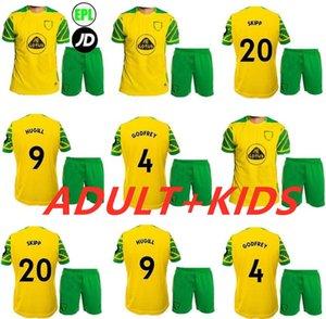 성인 어린이 22 22 Norwich City Hugill 축구 유니폼 홈 Roberts Pukki Hernandez Buendia 2021 2022 어린이 Stiepermann Jersey 축구 셔츠 Skipp Cantwell