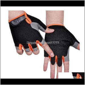 Protective Gear & Outdoors Drop Delivery 2021 Cycling Anti-Slip Anti-Sweat Men Women Half Finger Breathable Anti-Shock Sports Gloves Bike Bic