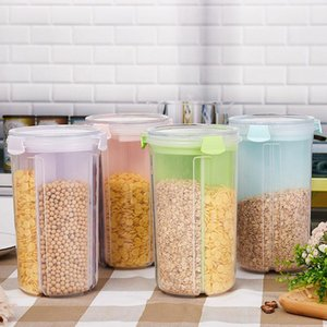 Colorful Grain Storage Box Kitchen Containers Cereal Dispenser Candle Jars -Grade Organizer Bottles &