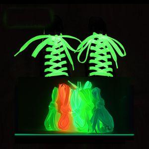 Sneakers Men's and Women's Luminous Shoelace Ribbon Black Fluorescent Shoelaces Canvas Shoes 1 Pair DHL Delivery 272 Z2