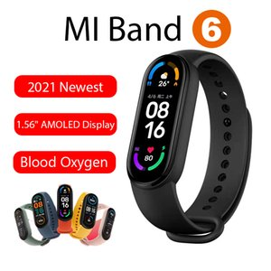 Original Xiaomi Youpin Mi Band 6 Smart Wristband AMOLED Blood Oxygen Fitness Traker Heart Rate Bluetooth Waterproof Bracelet six