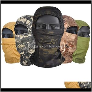 Caps Masks Protective Gear Sports & Outdoors Drop Delivery 2021 Outdoor Active Camouflage Balaclava Full Face Mask For Cs Wargame Cycling Hun