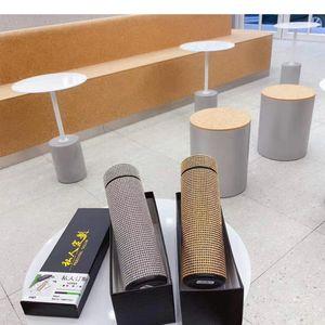 Thermos Temperature Display Smart Stainless Steel Vacuum Bottle Coffee Travel Mug Tumbler Leak Proof with rhinestones
