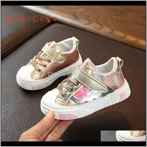 Autumn Kids Pu Leather Baby Girls Sport Sneakers Children Boys Fashion Casual Shoes Lightweight Trainer K147 201120 1Iyhj M26Aj