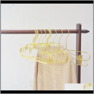 Hangers Racks Housekeeping Organization Home & Garden5Pcs Cloud Shape Wall Hook Non-Slip Gold Iron Coat Hanger Clothing Storage Organizer Ra
