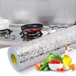 Wall Stickers 40x100cm Kitchen Oil-proof Waterproof Aluminum Foil Stove Cabinet Self Adhesive Sticker DIY Wallpaper