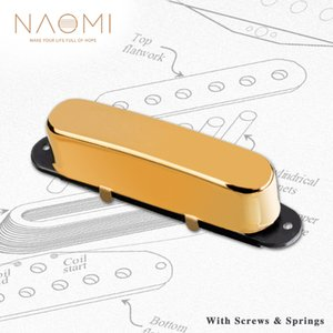 NAOMI Vintage Single Coil Guitar Pickup 50mm Pole Space Neck 7.5K w  Golden Plated Metal Cover For TL Style Electric Guitar