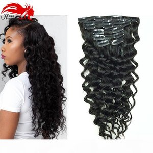 Clip In Human Hair Extensions Brazilian Hair African American Clip In Human Remy Hair Extensions Deep Curly Clip ins
