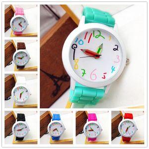 Wristwatches Male Female Students Clock Women Watch Waterproof Fashion Simple Pencil Ladies Watches For Children Kids Gift Child Quartz