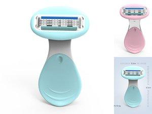 النساء الحلاقة الحلاقة دليل لنزع الشعر ماكينة حلاقة 4-طبقة شفرات مصغرة الحلاجين لجسم الساق بيكيني إزالة الشعر مع استبدال جودة عالية