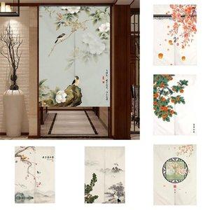 Cortina cortinas chinês flor pintura de pássaro porta sorte fortuna fengshui partição pendurado cortinas decorativas casa cozinha quarto
