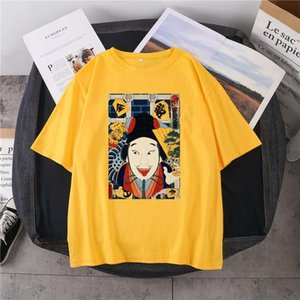 Men's T-Shirts Japanese Red Samurai Character T-Shirt 14-Color Pure Cotton Round Neck Loose Summer Short-Sleeved Daily Casual Neutral Top