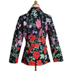 traje camisetas seqiny blazer 2021 primavera moda diseño femenino flores impresión alta calidad oficina señora talla elegante chaqueta