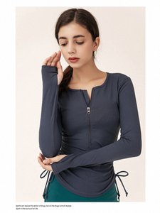 lulu t-shirts Womens Yoga sweatshirts High Waist Sports Gym Wear Breathable Stretch Tight sleeve t shirts LU Women Athletic Joggers clothers 2021 E7Td#