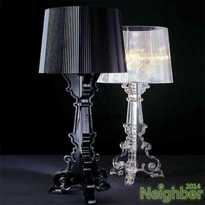 Table Lamps Baroque CLEAR Transparent Bourgie Acrylic Lamp Modern Acryl Desk For Bedroom Living Room Bedside With LED Bulb