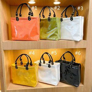 Women Girls Designer Handbag Classic Letter Book Tote Fashion PVC Shopping Bag Large Capacity Totes Handbags Outdoor Travel Shoulder Bags