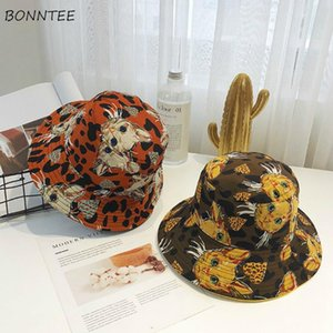Bucket Hats Women Chic Double-sided Fashion Korean Outdoor Ladies Shade Sun Hats Holiday Harajuku Popular All-match Womens Caps