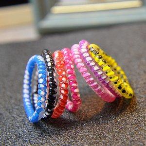 Telefondraht Hair Ring Cord Gummi Hair Krawatte Schlange Drucken Elastische Mädchen Haarbänder Gummi Seile Armband Stretchy Scrunchy H12709 511 Y2