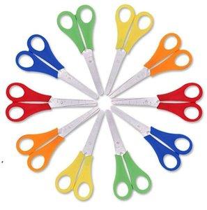 Kids's Safety Scissors Ruler DIY Scale Scissor Children's Stationery Office Student Scissors Plastic DWE8788