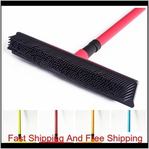 Squeegees Pet Hair Telescoping Handle Carpet Rubber Broom Removable Rod Floor Water Removal Window Cleaning L2Vhw Gr2Zd