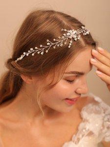 Headpieces Simple Women Headbands Shiny Crystal Handmade Hair Bands For Bride Headdresses Wedding Arrangement Fascinators Decorations