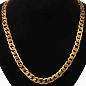 Хип-хоп ювелирные изделия длинные коренастые кубинские ссылки цепь золотые ожерелья с толстыми золотыми цветными цепочками окрашиваний для мужчин ювелирные изделия x0509