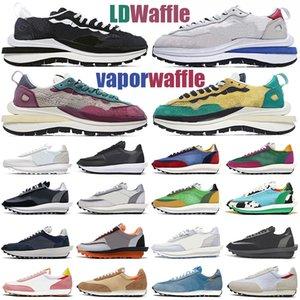 sacai ldv waffle amanhecer Sapatos casuais Nylon Pigeon Pine Green des chaussures tênis feminino masculino tênis esportivos ao ar livre