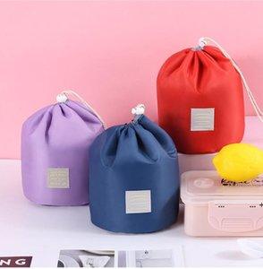 Travel cylinder carry-on storage bag cosmetics handbags portable finishing cosmetic toilet box FWE9625