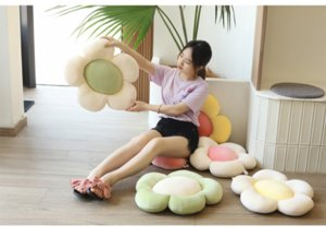 SUNFLOWER Pillow Mats Doll Super Soft Simulation Flower Little Cushion Plush Toy Girls' Gifts