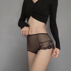 Cintura para mujer alta de Tahi Women With Women's High Swear Screen Ing Lace Bras Pantalla de impresión de la pantalla Admección interior con estampado de encaje