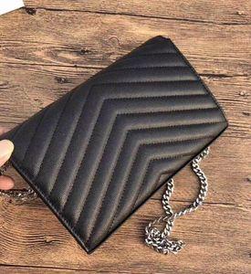 Hot Fashion Luxury Designer Caviar women Crossbody Bag Purse V Flip Bag Chain Shoulder Bag Caviar High Quality Genuine Leather Ladies Clutch