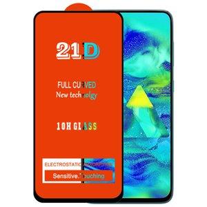 21D Protecteur d'écran de colle complet Verre trempé Preuve de protection Couverture courbe Couverture de la couverture de film pour Samsung Galaxy A10 A20 A30 A40 A50 A60 A60 A70 A90