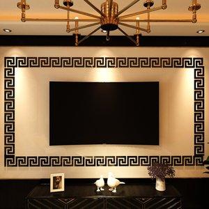 100PCS Mirror Waist Line wall Decor Sticker Home Living Room sticker Bathroom room acrylic Art decoration