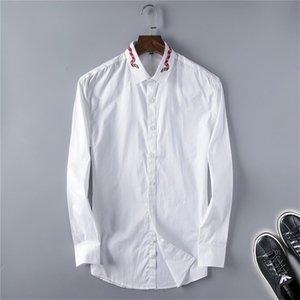 2021 Nouveaux Hommes Chemises Manchons à manches longues Collier De grande taille 5XL Plaid Play Shirt Style Vintage Étudiants à la mode Mens All-match @ 165