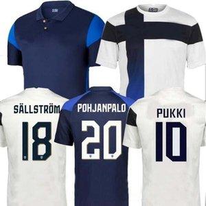 2021 فنلندا لكرة القدم الفانيلة pukki skrabb raitala jensen lod المنزل الأبيض كرة القدم قميص قصير الأكمام الزي البالغ
