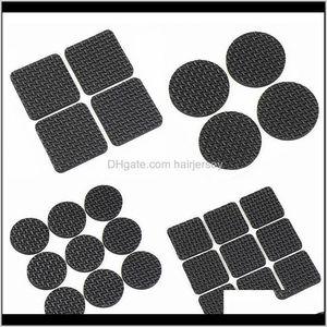 Covers 9Pcs 4Pcs Tables Chairs Mats And Ottomans Black Corner Of The Desk Chair Cushion Anti Abrasion Floor Door Mat Felt Pad Dfk8Y Xjuon