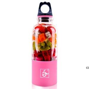 500ml Portable Blender Juicer Cup Mini USB Rechargeable Juicer Blender Maker Shaker Squeezers Fruit Orange Juice Extractor DHE9781