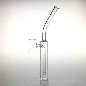 8 Inch Fully Quartz Side Bubbler Water Pipes Bottomless Banger Nail 25mm 2mm thick for V4 V5 SAI TAF Vaper Atomizer Smoking Nails