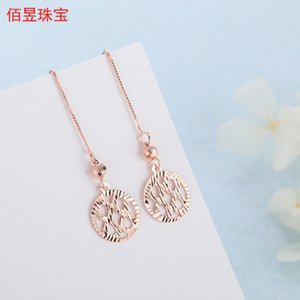 925 Sterling Silver Korean Dongdaemun Earrings Anti-Allergy Ins Graceful Personality Cute Autumn and Winter Exaggerated High-End Hanging Ear