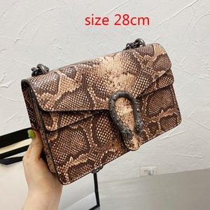 High Quality Fashion luxury women Designers Shoulder bag Crocodile pattern Snakeskin leather chain Crossbody Messenger Female handbag wallet 4 colors 06