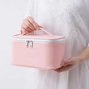 Travel Cosmetic Bag Beautician Make Up Quick Makeup Purse Toiletry Organizer Pink Pouch Waterproof Handbag Storage Boxes & Bins