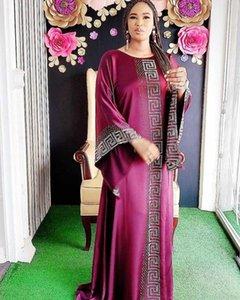 Afrika Dashiki Elbiseler Kadınlar Için Parti Abaya Ipek Boncuk Elmas Bazin Vintage Uzun Kollu Femme Robe Abiye Afrika Giyim Rahat