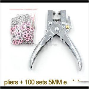 Beads 5Mm Eyelets Installation Leverage Pliers Paint Metal Stomatal Rivet Corn Color Buttonholes Multicolor Wmtfdi 2Gvds P8Is3