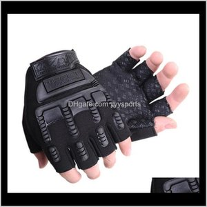 Protective Gear Sports Gloves Fitness Weightlifting Antislip Training Tactical Breathable Half Finger N6Fro Wekkb