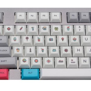 Profile Personality 22 Keyboard Keycap Dye Sublimation PBT Key Cap Hat For PC Computer Notebook Use Supplies P9YE Keyboards