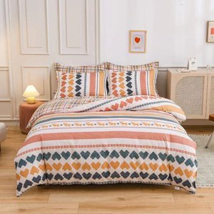 Thickened Pure Four Autumn and Winter All Cotton Sheet Quilt Cover Three Piece Set of Bedding