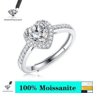 Cluster Rings 1 Real Moissanite Ring 925 Sterling Silver Luxury Hearts And Arrows For Women Wedding Jewelry Test Positive With GRA