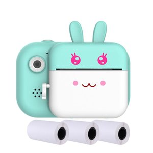 Front Rear Video Kids Camera 1080P HD Pography Po Printer With Memory Card USB Rechargeable LCD Display Selfie Fill Light Digital Cameras