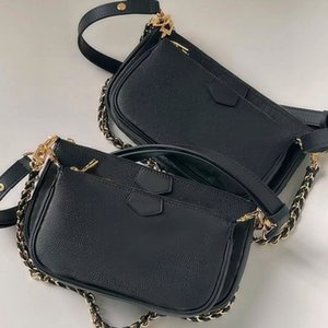 Dicky0750 Composite Shoulder Bags handbags Leather clutch for women embossed Purse fashion chain purses lady crossbody handbag Clamshell mini messenger bag